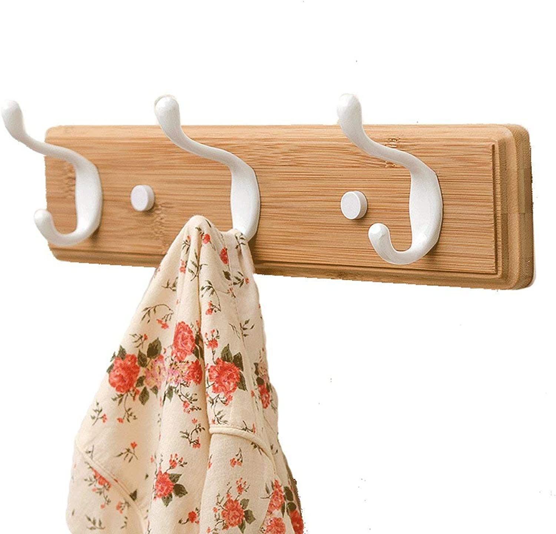 LUHEN Creative Coat hookolid Wood hooksathroom hooksultiple Hooks (Size   3 Hooks)
