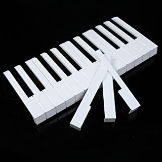 Vktech® 52Pcs White ABS Plastic Piano Keytops Kit with Fronts Replacement Key Tops