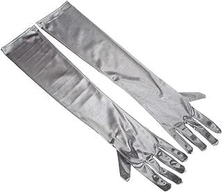 RUNHENG Women's Evening Party 17.75 inch Long Sillky Finish Satin Finger Gloves