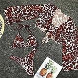Bikini Brasileño Acolchado Traje De Baño para Mujer Traje De Baño Femenino Conjunto De Bikini De Tres Piezas Bañador Traje De Baño Swim Lady S Brown