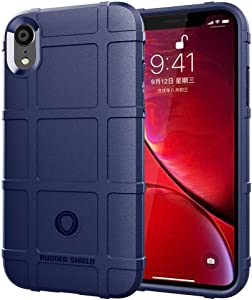 iPhone XR case, LABILUS (Rugged Shield Series) TPU Thick Solid Armor Tactical Protective Cover Case for iPhone XR (6.1 inch) - Navy Blue