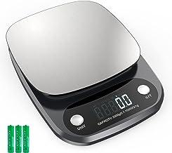 Balance Cuisine Electronique 10 kg, Balance de Précision avec Ecran LCD Jusqu'à 0,1 g, Balance Alimentairee en Acier Inoxy...