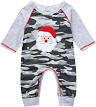 Baby Boys Girls Christmas Outfit Red Plaid Santa One Piece Romper Jumpsuit Bodysuit Pajamas Fall Outfit Overall