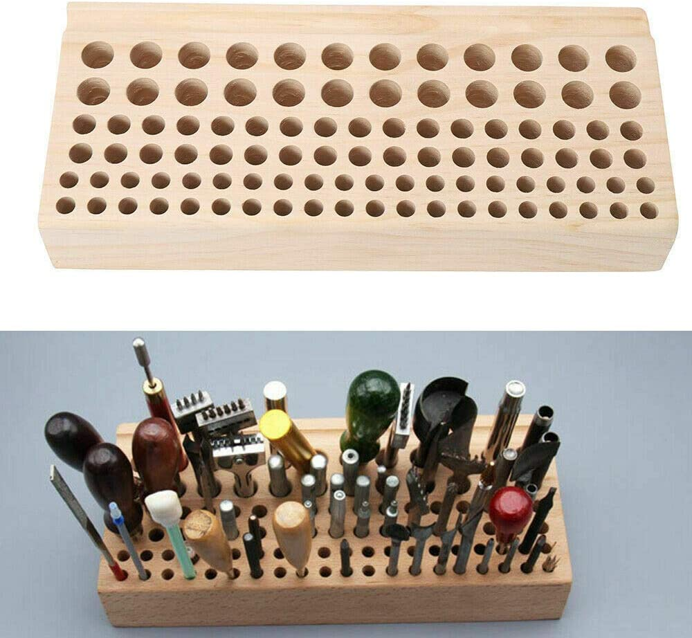 Leather Tools and Supplies 98 Holes Wood Craft Max 78% OFF Fashion Tool DIY