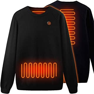 Heated Tops Knitted Thermal Sweatershirt, Lightweight Casual Heated Clothes
