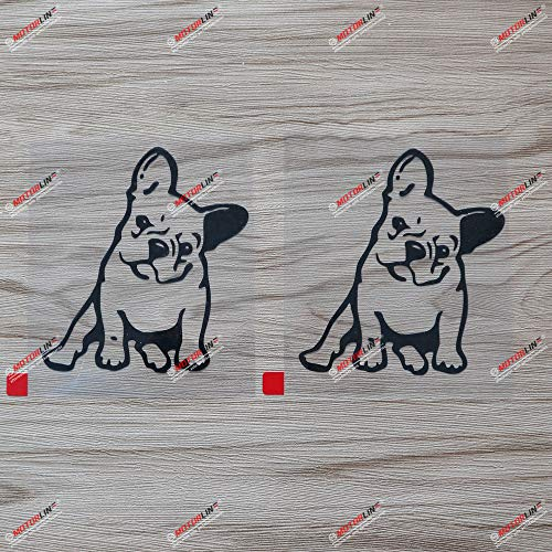 2X Black 4 Inches French Bulldog Puppy Cute Dog Decal Vinyl Sticker Car Laptop Window Style c