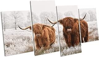 TeaCanvas Highland Cow Canvas Wall Art Picture Print 4080cm2pcs 40100cm2pcs Frame