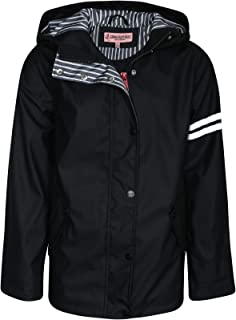 Girls Lightweight Vinyl Waterproof Raincoat with Hood