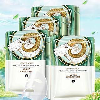 Geitenmelk masker, hydraterende gezichtsmasker, 10 stuks/doos geitenmelk hydraterende gezichtsmasker plantenextract hydrat...