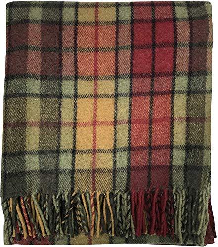 Tartan Tweeds 100% lana scozzese scozzese scozzese (taglia unica) (autunno Buchanan)