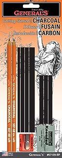 قلم رصاص جنرال 57139-BP للبدأ مع مجموعة الفحم، متعدد الألوان
