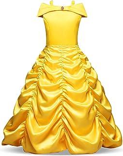 NNJXD Girls Beautiful Cinderella Costumes Costume da Carnevale Principessa Halloween Party Dress