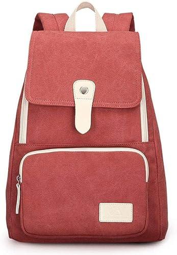 Shukun Rucksack Frauen Canvas Travel Casual Hochwertige Mode Rucksack