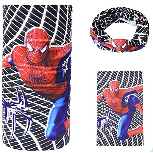 Tsyllyp Kids UV Protection Face Cover Child Super Heros 3D Print Neck Gaiter for Hot Summer Cycling Hiking Sport Outdoor