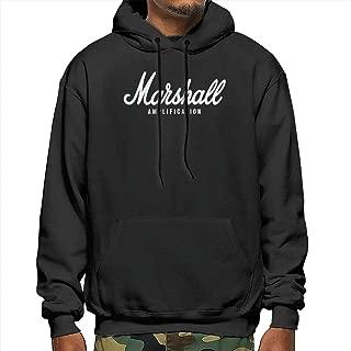 Nickmy Marshall-Amplification Men's Warm Long-Sleeved Sweatshirt Men's Fitness Sweater Hoodie Black