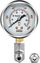 Pressure Gauge Kit - 304 Stainless Steel - Pressure Gauge 0-10000 PSI and a Pressure Adapter - Paired with 10-Ton Hydraulic Pump for dp-hr10t35v