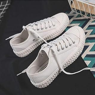 XL_nsxiezi Zapatos de Lona Retro de los Estudiantes Zapatos de Las señoras de los Zapatos Ocasionales de los Hombres