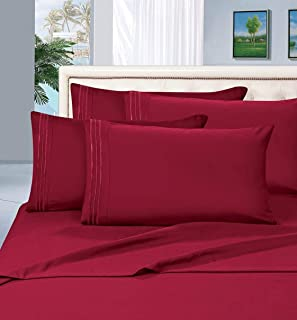 Elegant Comfort 2-Piece 1500 Thread Count Egyptian Quality Hypoallergenic Ultra Soft Wrinkle, Fade, Stain Resistant Pillow...
