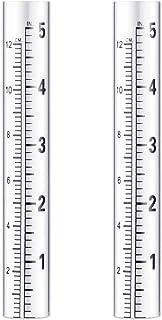 Ounona - 2 calibro di ricambio in vetro a immersione, pluviometro, tubo di prova con scala, per giardino, giardino, estern...