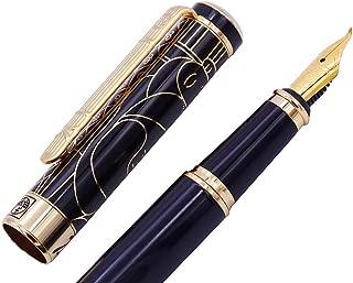 Picasso 902 Gentleman Fountain Pen Bent Nib Fude Pen, Fine to Broad Size, Black Gold Collection Signature Gift Pen