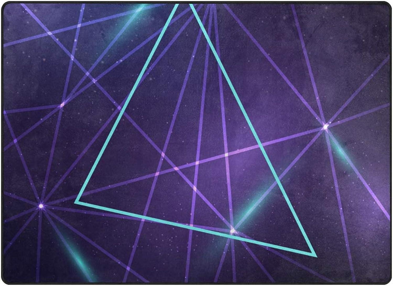 FAJRO purple Fancy Geometry Pattern Polyester Entry Way Doormat Area Rug Multipattern Door Mat Floor Mats shoes Scraper Home Dec Anti-Slip Indoor Outdoor