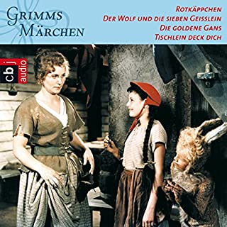 Rotkäppchen / Der Wolf und die sieben Geißlein / Die goldene Gans / Tischlein deck dich (Grimms Märchen 3.1) Titelbild