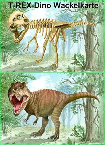 Lustige Lentikular-Postkarte mit Wackelbild nr. 10063/ Wechselbild Dinosaurier: