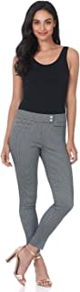 Rekucci Women's Ease in to Comfort Slim Ankle Pant with Snaps