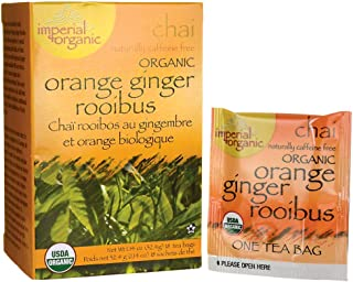 Organic Imperial Orange Ginger Rooibus Chai Tea 18 Bags