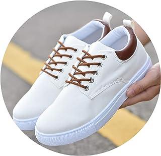 Men Canvas Shoes 2019 Autumn Breathable Lace-Up Casual Shoes Men Flat Loafers Shoes Big