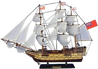 Hampton Nautical  HMS Victory Tall Ship Wooden Model Sail Boat, 24