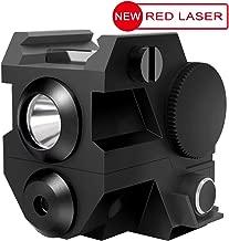 Laspur USA Mini Tactical Sub Compact Rail Mount Laser Sight with High Lumen CREE LED Flashlight Light Integrated Combo with Strobe for Pistol Rifle Handgun Gun
