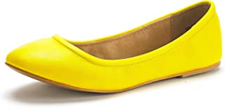 Women's Sole-FINA Solid Plain Walking Classic Ballet Flats Shoes