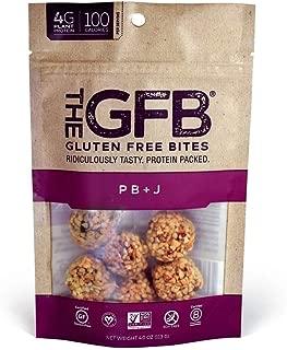 The GFB Gluten Free, Non GMO High Protein Bites, PB+J, 4 Ounce (6 Count)