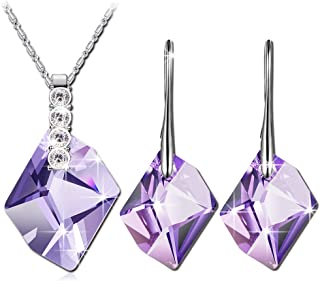 QIANSE Jewelry Gifts for Women Snow Queen 5A Cubic Zirconia Necklace Bracelet Earrings Jewelry Set, Best Jewelry Gifts wit...