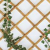 eacommerce Traliccio Grigliato Reticolato in Bamboo Naturale Estensibile per Piante e Fiori rampicanti per Balconi, Terrazze, Giardino (180X240 CM)
