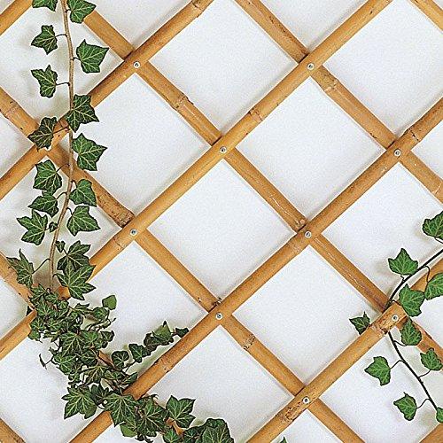 eacommerce Traliccio Grigliato Reticolato in Bamboo Naturale Estensibile per Piante e Fiori rampicanti per Balconi, Terrazze, Giardino (90X240 CM)