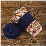 CasaBasics Designer Kaffeebecher to Go aus nachhaltigem Bambus | Kaffee to go Becher ist wiederverwendbar, Vegan, umweltfreundlich, lebensmittelecht und geeignet für die Spülmaschine | 450ml / 15oz - 4