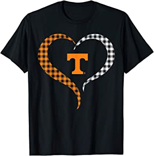 WUMINGXX Tennessee Volunteers Half Heart T-Shirt - Apparel