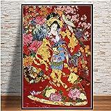 ARjzap Puzzle de Madera de 1000 Piezas Retrato de Geisha 1000 Piezas Jigsaw Puzzle Juguetes de Juegos educativos Familiares 50x75cm(19.68x29.52 in)