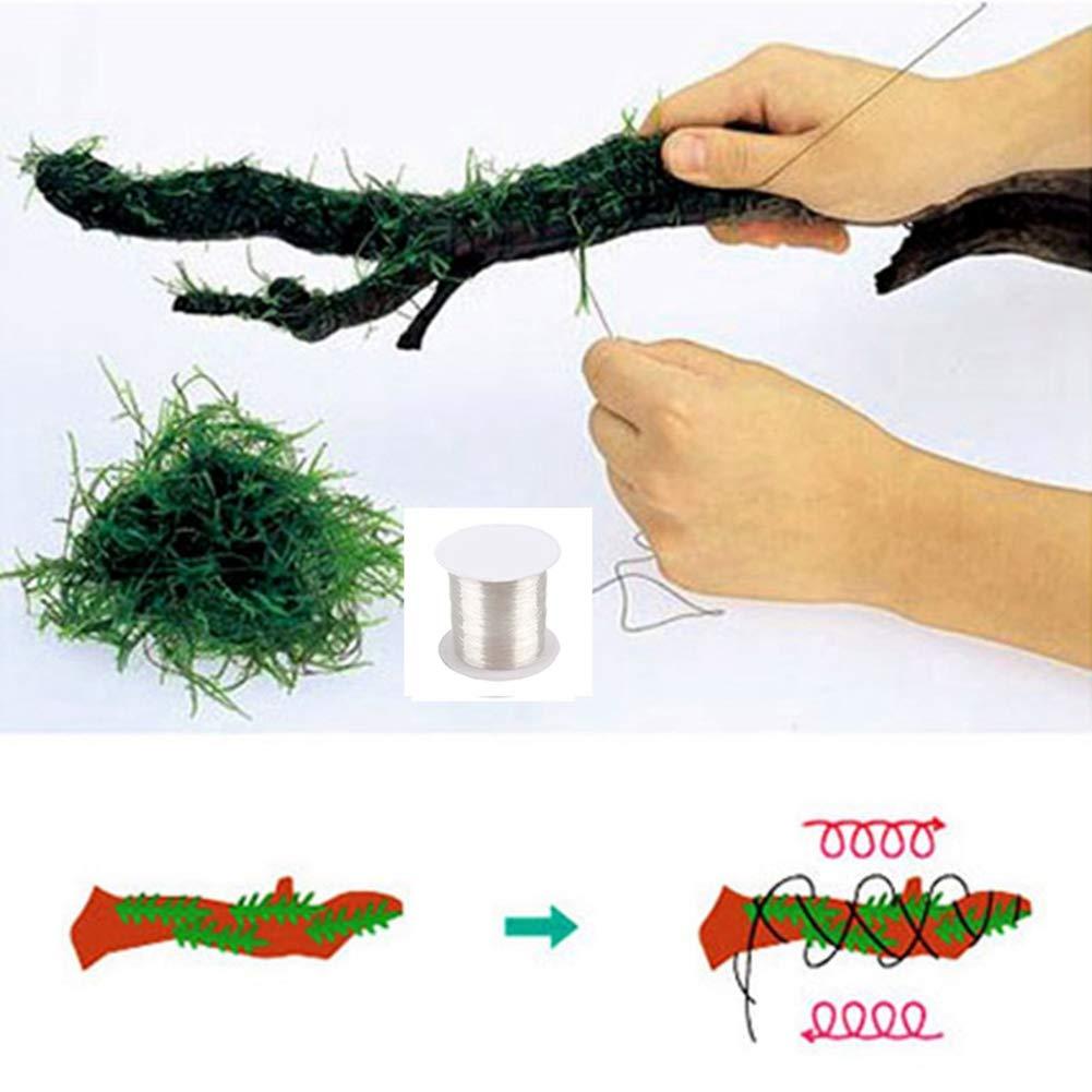Norbi Moss Line Aquarium Landscape DIY Fern String Wire Tie Transparent Nylon Water Grass Aquatic Float Moss Line String 120m