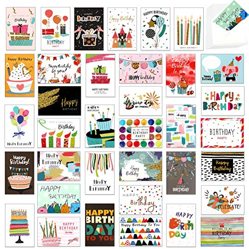 HOWAF Birthday Cards Pack,36 Pack Greeting Cards,Multipack Happy Birthday...