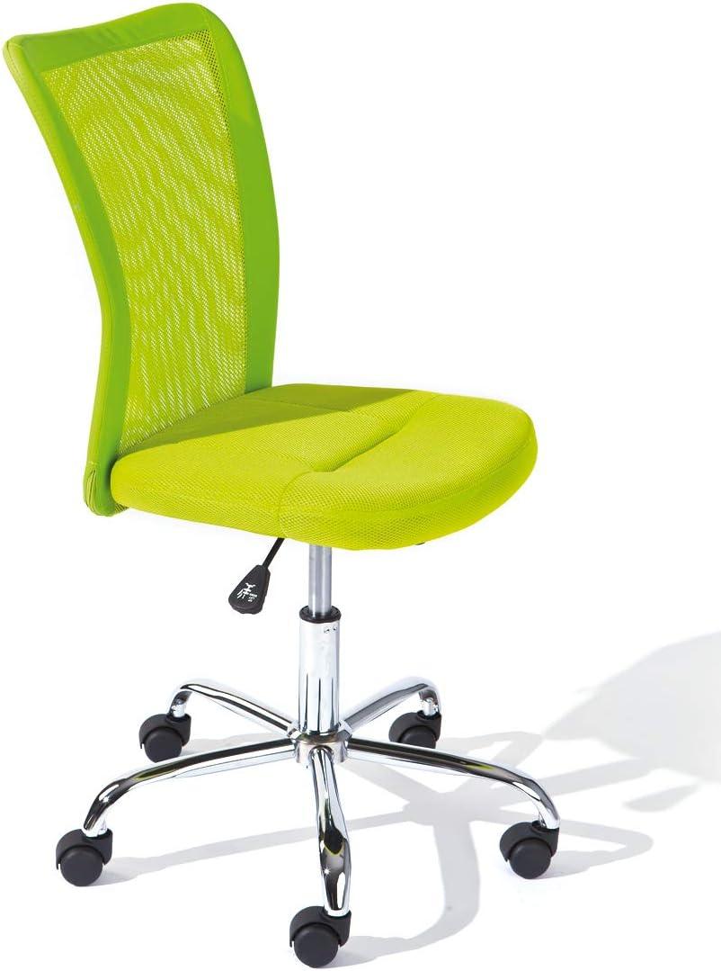Inter Link Kinderdrehstuhl Bürostuhl Jugenddrehstuhl Schreibtischstuhl Drehstuhl Metall Bezug Mesh Grün BxHxT: 43 x 88-98 x 56 cm