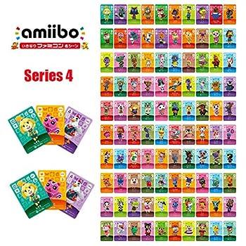Series 4 301-400  100pcs/lot Animal Crossing Card Stitches Mott Dizzy Lolly Pietro Aurora Zucker Sylvia Character Amiibo Card for NS Game