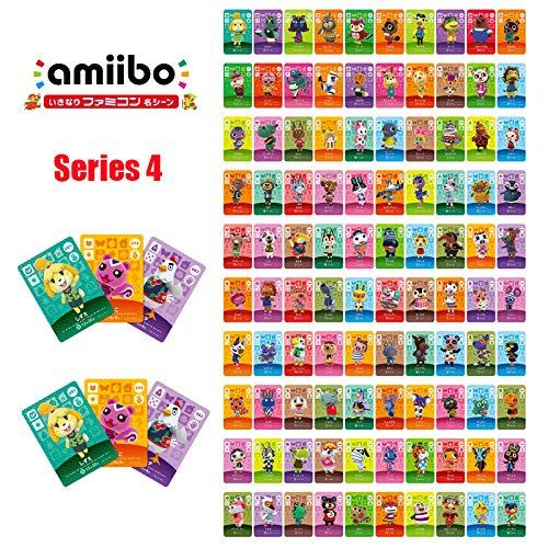 Series 4(301-400) 100pcs/lot Animal Crossing Card Stitches Mott Dizzy Lolly Pietro Aurora Zucker Sylvia Character Amiibo Card for NS Game