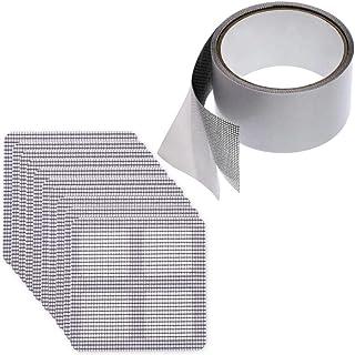 (なないろ館)網戸修理 補修テープ パッチ 10枚 セット 修復 シート 自由カット 張り替え 蚊 虫 対策