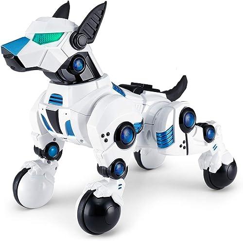 venta con descuento FFLSDR Robot de Juguete con Control Remoto, Remoto, Remoto, Robot Inteligente, Perro de Carga eléctrico para Niños.  marca de lujo