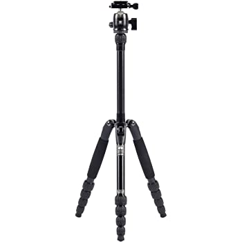 Sirui T-005 5-Section Aluminum Tripod with C-10 Ball Head Black