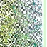 Color 3D patrón de bambú sin pegamento decoración electrostática privacidad película de color película de vidrio película autoadhesiva pegatina de decoración de vidrio electrostático A122 45x100cm