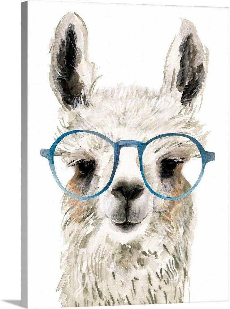 The Max 87% OFF Novogratz Calculating Llama I Popular standard Print Wall Art Canvas 18